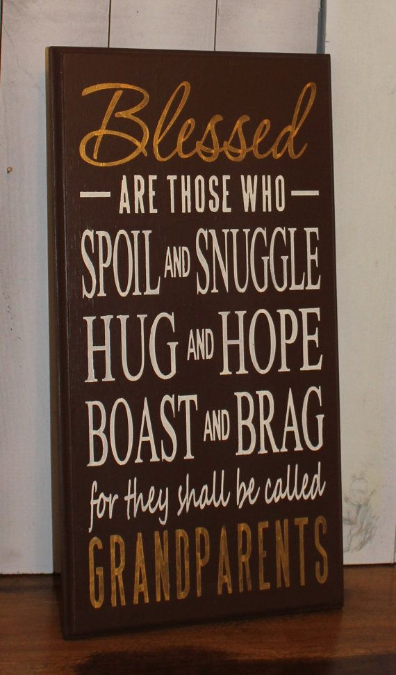 Grandparents Sign/Blessed/ by TheGingerbreadShoppe on Etsy, $39.95