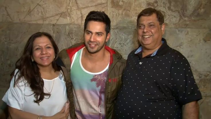 Varun Dhawan with MOM and DAD| sk ii