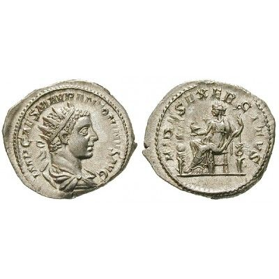 Römische Kaiserzeit, Elagabal, Antoninian 219, st: Elagabal 218-222. Antoninian 24 mm 219 Rom. Drapierte Büste r. mit Strahlenkrone… #coins