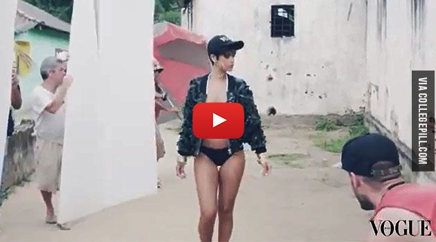Rihanna's Behind the Scenes Clip for Vogue Brasil [VIDEO]
