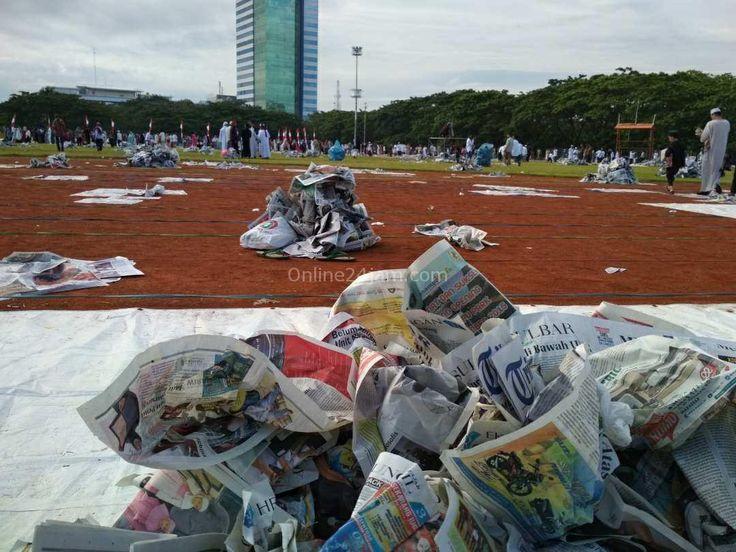 Sampah Koran Berserakan di Karebosi, Petugas Diminta Bereskan Kurang Dari Sejam