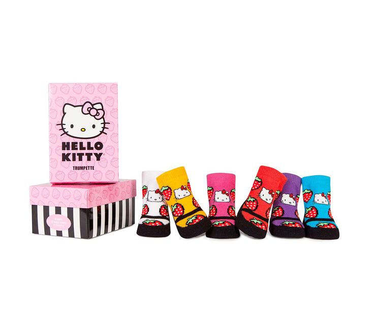 Trumpette x Hello Kitty 0-12mo Baby Socks Set: Strawberries