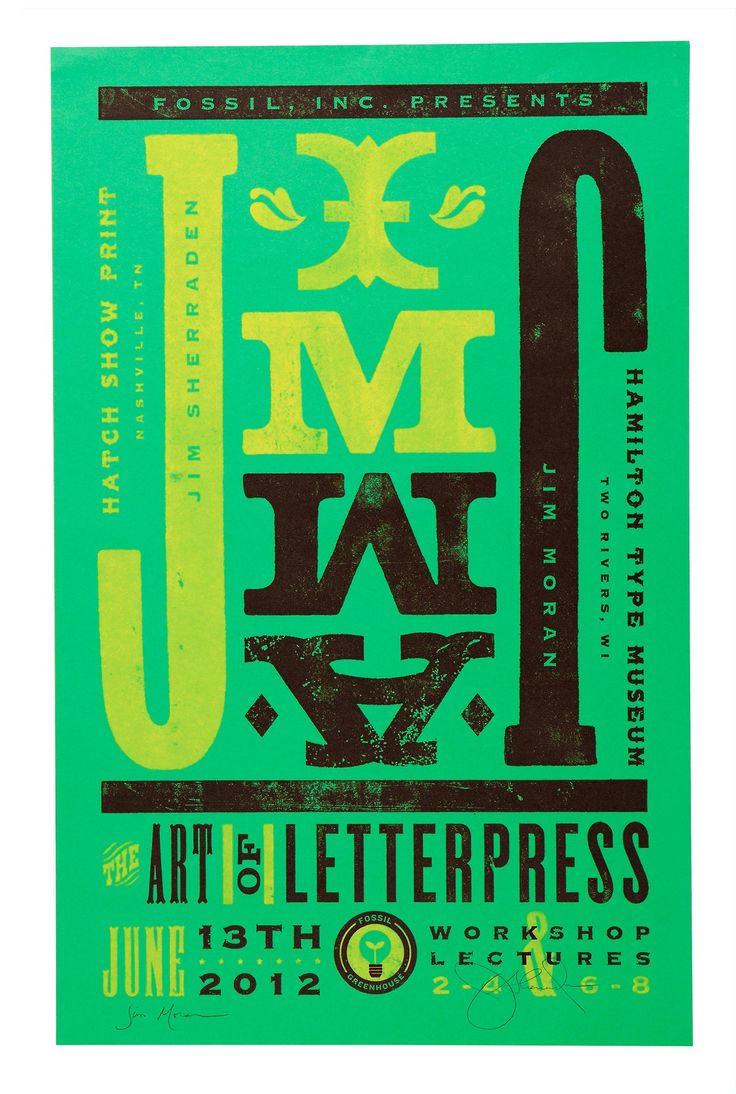 Poster design firms - Fossil Image Group The Art Of Letterpress Graphic Postersdesign