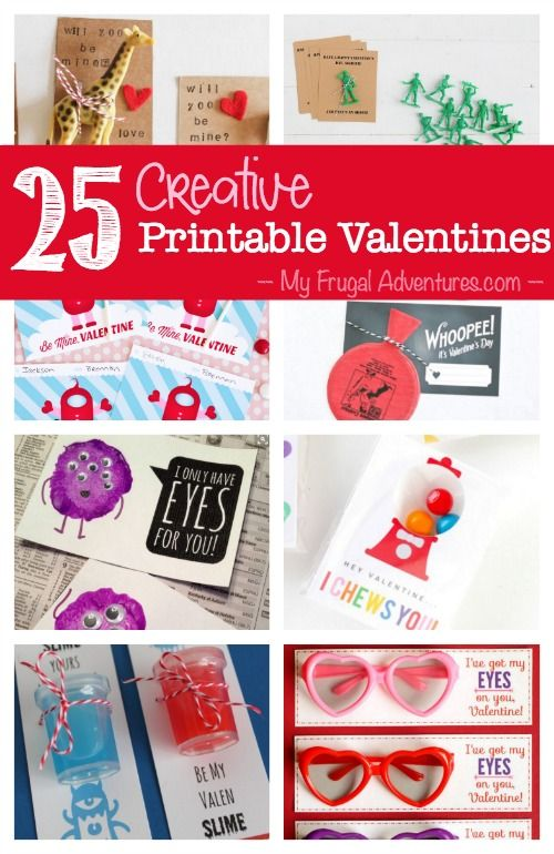 25 Creative Free Printable Valentine's Day Cards