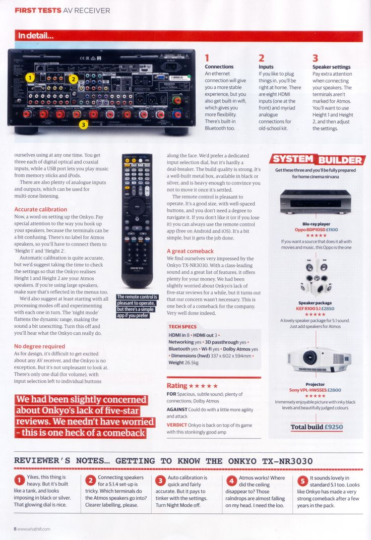 Proud to see our TX-NR3030 as a 5 star recommendation in Whathifi.com - Page 2 of 2