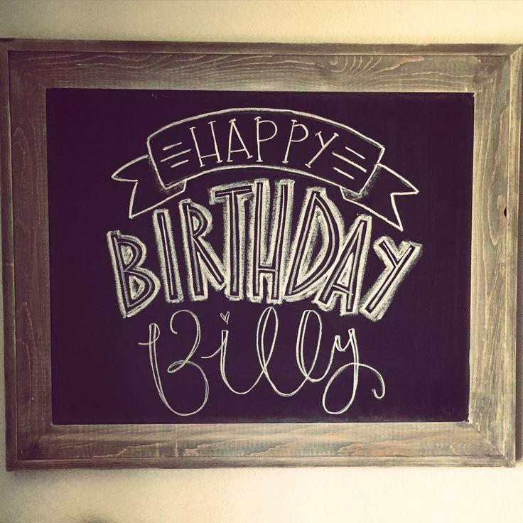 Best 20+ Happy Birthday Chalkboard Ideas On Pinterest