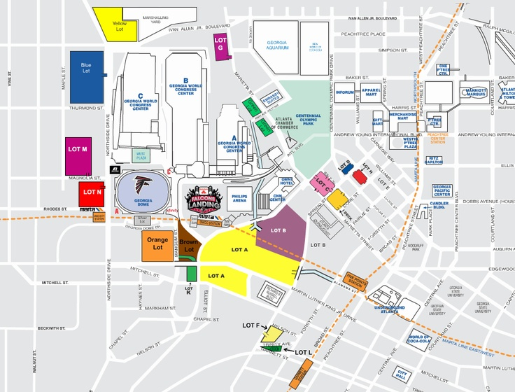Georgia Dome Tailgating Map