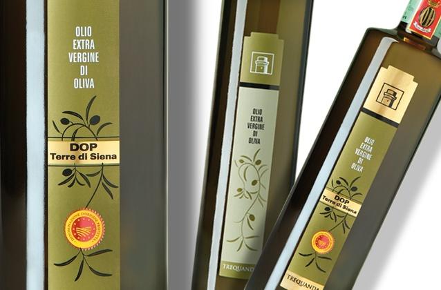 Azienda Agricola Trequanda    oil labels Brand identity