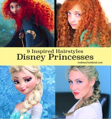 9 different Disney princess hairstyle (with video tutorials) / 9 különböző Disney hercegnő hajstílus videó bemutatókkal Mindy -  creative craft ideas