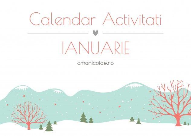 calendar activitati ianuarie