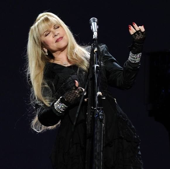 Stevie   ~ ☆♥❤♥☆ ~ playing 'air guitar' onstage  during the 'Say You Will' tour with the other members of Fleetwood Mac in 2003 - 2004 ~  https://en.wikipedia.org/wiki/Say_You_Will_Tour