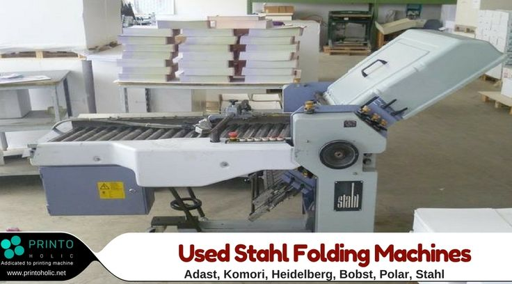 There are several varieties of buckle plates which may be configured with new & used Stahl folding machines.