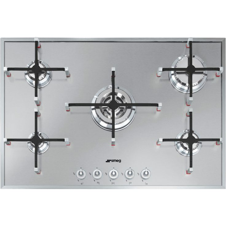 buy smeg linear px750 stainless steel 5 burner gas hob px750 marks electrical