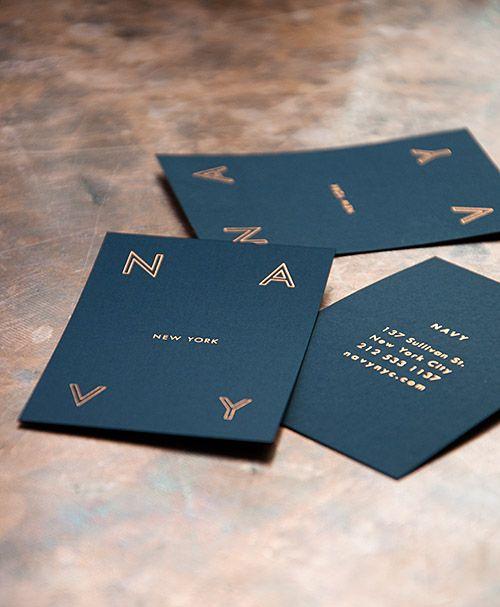 40 best design print metallic images on pinterest graph design restaurant we love navy gold foil business cardsimple colourmoves Choice Image