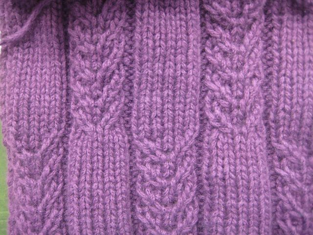 Cable Knit Scarf Pattern Free : Faux Cabled Scarf by Rebecca Lennox Free Knitting Patterns (Scarves) Pint...