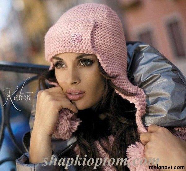 шапка ушанка спицами http://mslanavi.com/2014/01/modnye-shapki-ushanki-spicami/