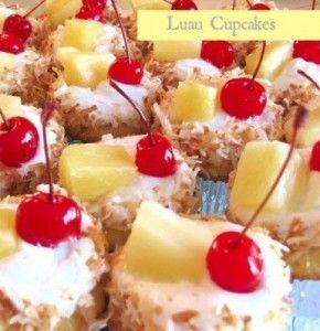 Luau Cupcakes Yummmmm!
