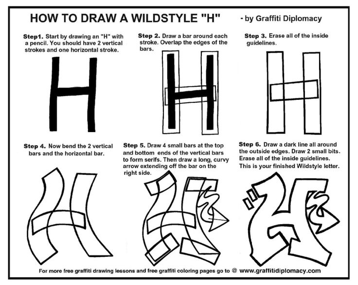 "How To Draw A WildStyle ""H"" - free lesson and Handout"