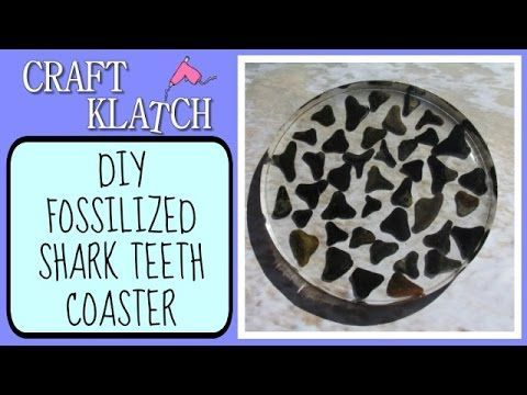 ▶ Fossilized Shark Teeth Coaster Another Coaster Friday Craft Klatch DIY - YouTube