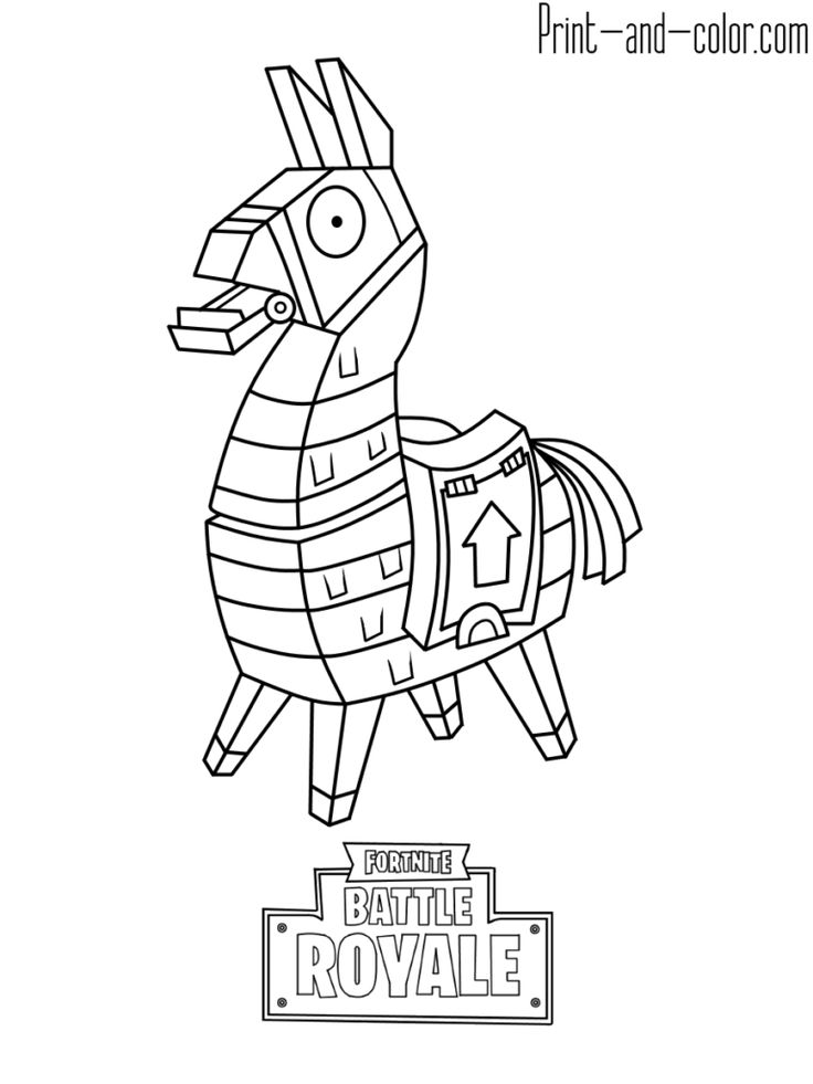 Fortnite Battle Royale Coloring Page Llama Fortnite V