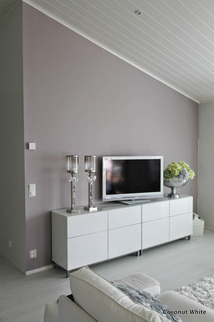 2 pcs of Ikea furniture I think. The wall color is a custom blend of gray and lavender paint colors.