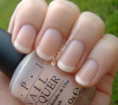 The perfect natural American Manicure. Pixie Polish: American Manicure uses softer white for a more natural look and tends to use the rounded or oval shape nail instead of squoval or square