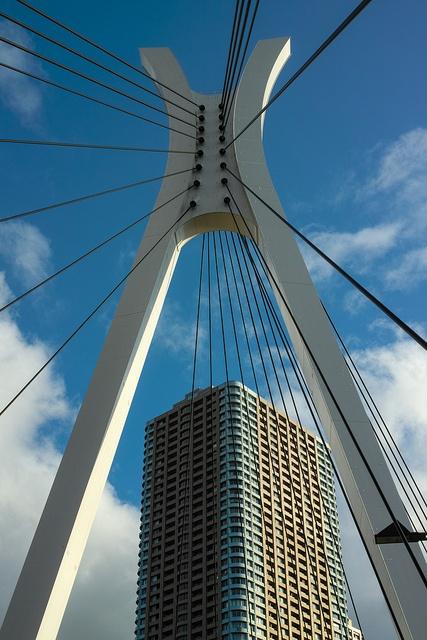 Bridge and Building by shinichiro*@Karen Aguilar, via Flickr,Japan