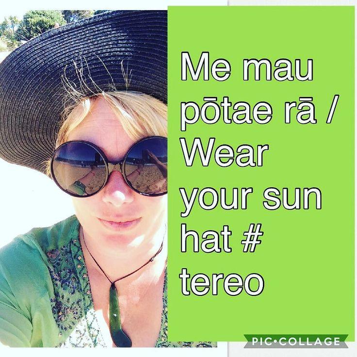 Me mau pōtae rā / Wear your sun hat #tereo #kaiteriteri #māori #sunsmart #sunhat