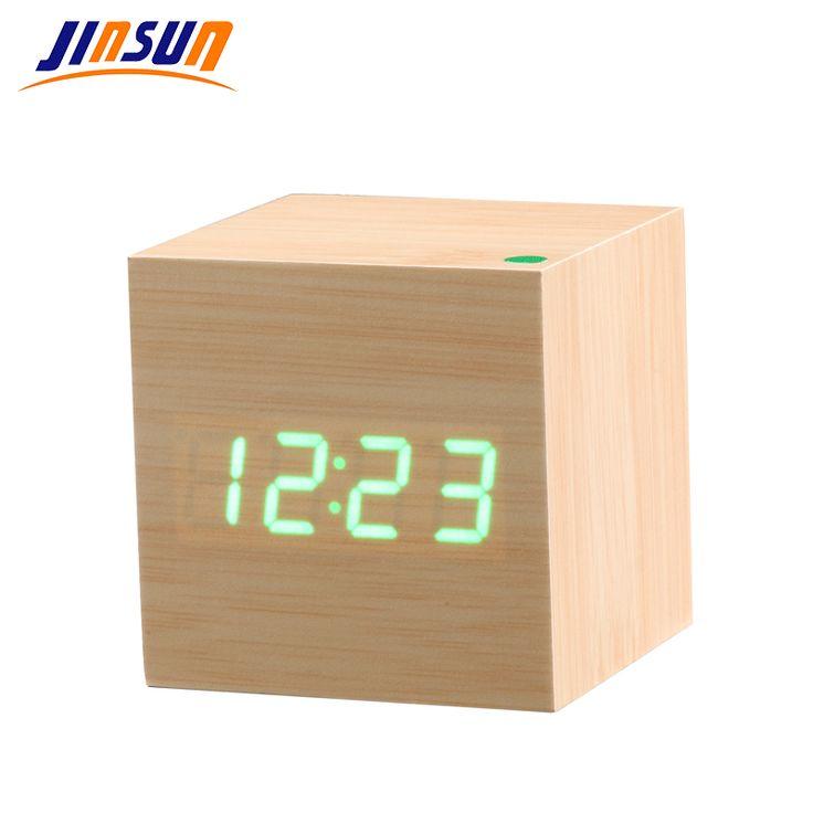 JINSUN New Modern Wooden Led Clock Square Style Desktop Clock Led Digital Single Face Alarm Clock Activated Watch despertador♦️ SMS - F A S H I O N 💢👉🏿 http://www.sms.hr/products/jinsun-new-modern-wooden-led-clock-square-style-desktop-clock-led-digital-single-face-alarm-clock-activated-watch-despertador/ US $9.58