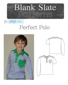 The Perfect Polo Unisex Sewing Pattern by Blank Slate Pattern via lilblueboo.com