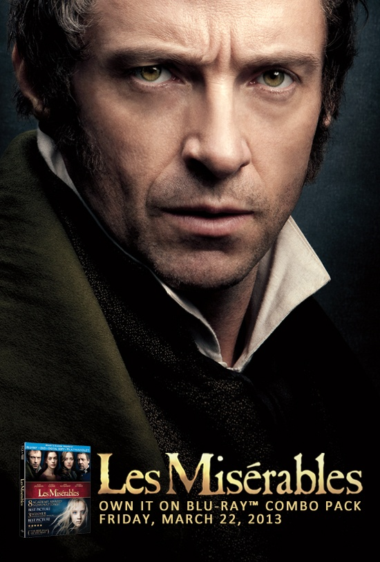 Les Miserables comes out March 22, 2013 On Blu-Ray