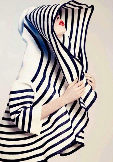 Striped JPG - modeled by Coco Rocha.
