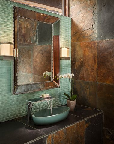 Contractors new mexico building in contextual modern home for Santa fe style bathroom ideas