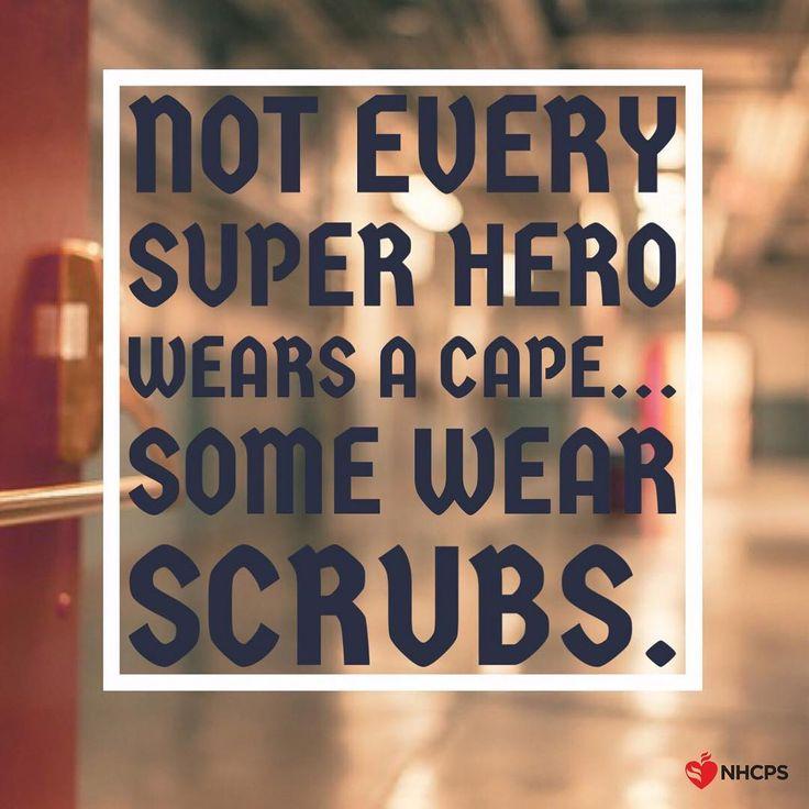 Not every superhero wears a cape... Some wear SCRUBS!  Tag a superhero nurse…