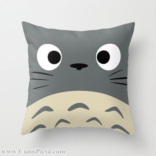 Totoro Kawaii My Neighbor Throw Pillow 16x16 Graphic Print Art Cover Anime Decorative Grey Creature Manga Troll Hayao Miyazaki Studio Ghibli on Etsy, 235,22 kr