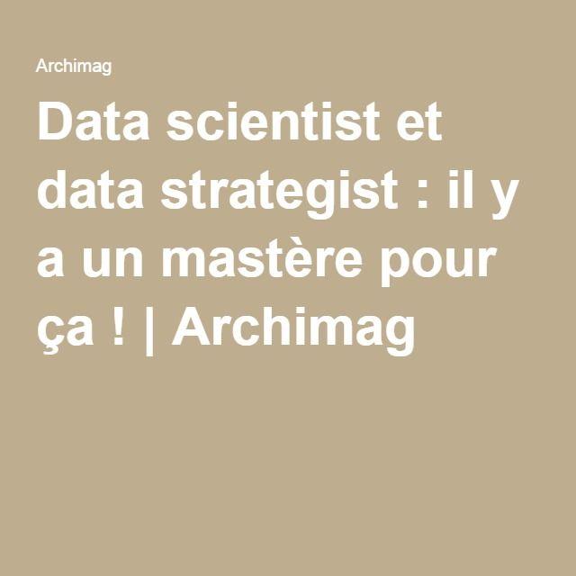 Data scientist et data strategist : il y a un mastère pour ça!