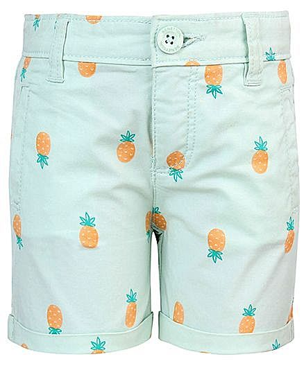 United Colors Of Benetton Pineapple Print Shorts - Green http://www.firstcry.com/ucb/united-colors-of-benetton-pineapple-print-shorts-green/578386/product-detail