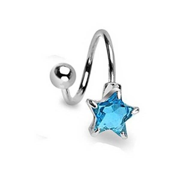 Bling Jewelry Bling Jewelry Blue Cz Star Twist Navel Ring 316l Steel (25 BRL) ❤ liked on Polyvore featuring jewelry, blue, artificial jewellery, fake jewelry, twisted body jewelry, fake body jewelry and blue steel jewelry