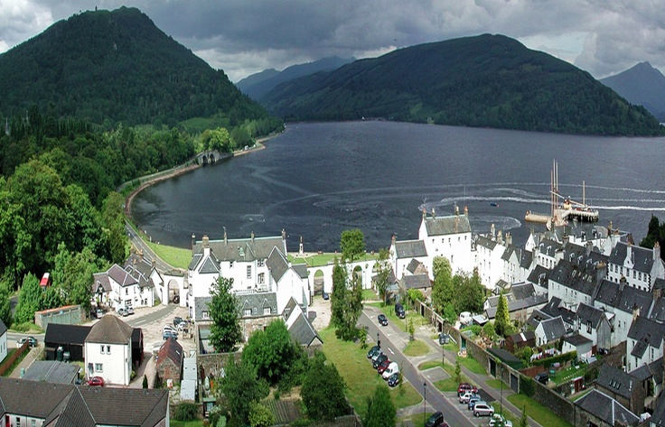 picture-perfect town of Inveraray, on the harbour of Loch Fyne in Scotland