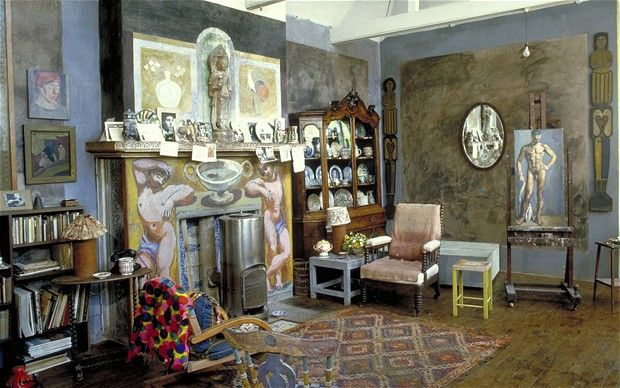 Charleston was the home and country meeting place for the writers, painters and intellectuals known as the Bloomsbury group. The interior was painted by the artists Duncan Grant and Vanessa Bell, and together with their collection forms a unique example of their decorative style. http://www.etsy.com/shop/Colorbloom