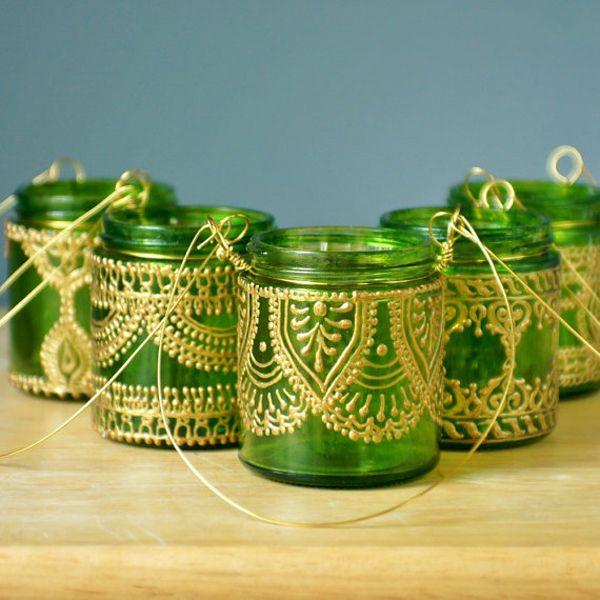 Hand Painted Mason Jar Lanterns 5
