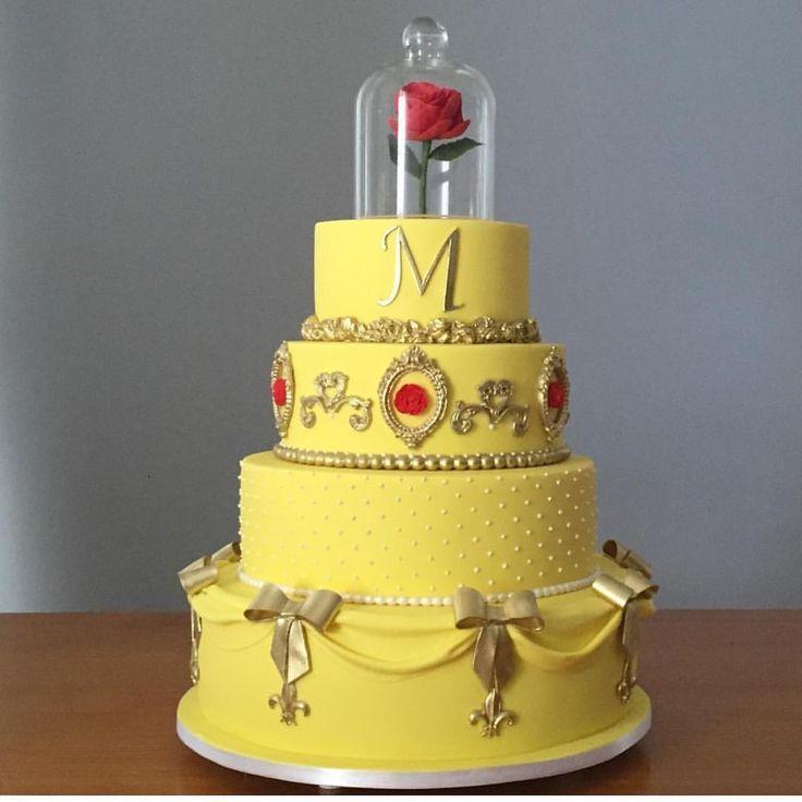 """5,460 curtidas, 79 comentários - Re Pretti (@loucaporfestas) no Instagram: """"Bolo lindo para A Bela e a Fera by @sweetdesignrj ! #Loucaporfestas #bolo #cake #bolo #bololpf…"""""""