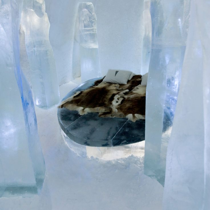 Ice hotel (ICEHOTEL in Swedish Lapland)