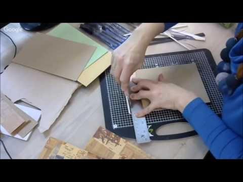 Артбук хламбук для микс медиа работ: видео мастер-класс Натальи Жуковой - YouTube