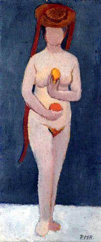 Paula Modersohn-Becker - Self portrait with hat