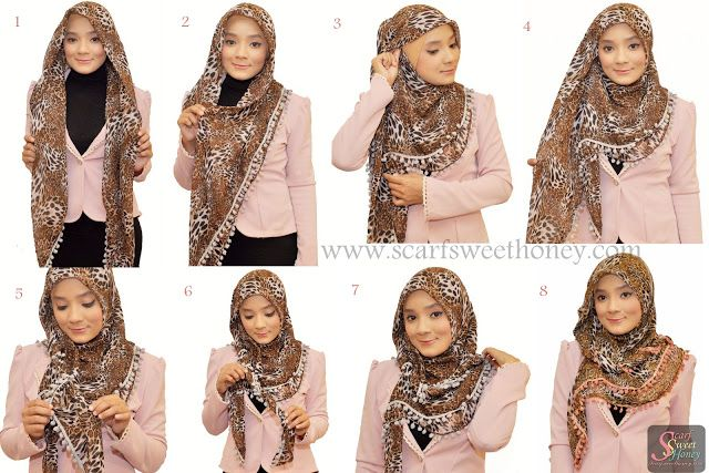 Hijab Tutorial ~ Scarf Sweethoney