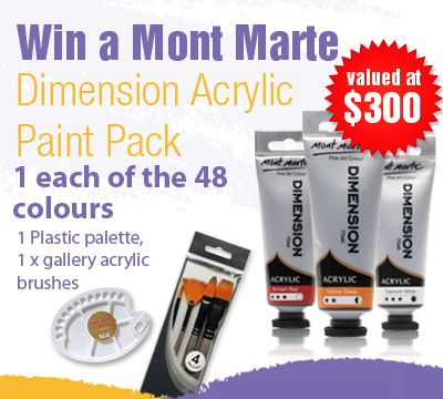 Win A Mont Marte Dimension Acrylic Paint Pack Valued At $300