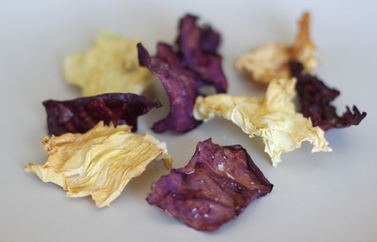 What is there not to like about crispy, salty snack food that is also good for you? The only ingredient is cabbage, plus a touch of extra virgin olive oil and sea salt.