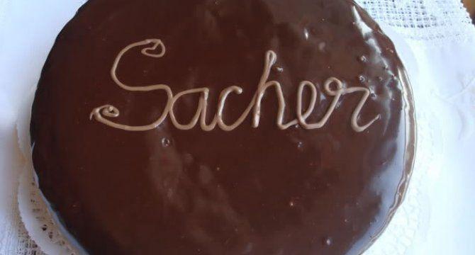 Tort Sacher in imagini