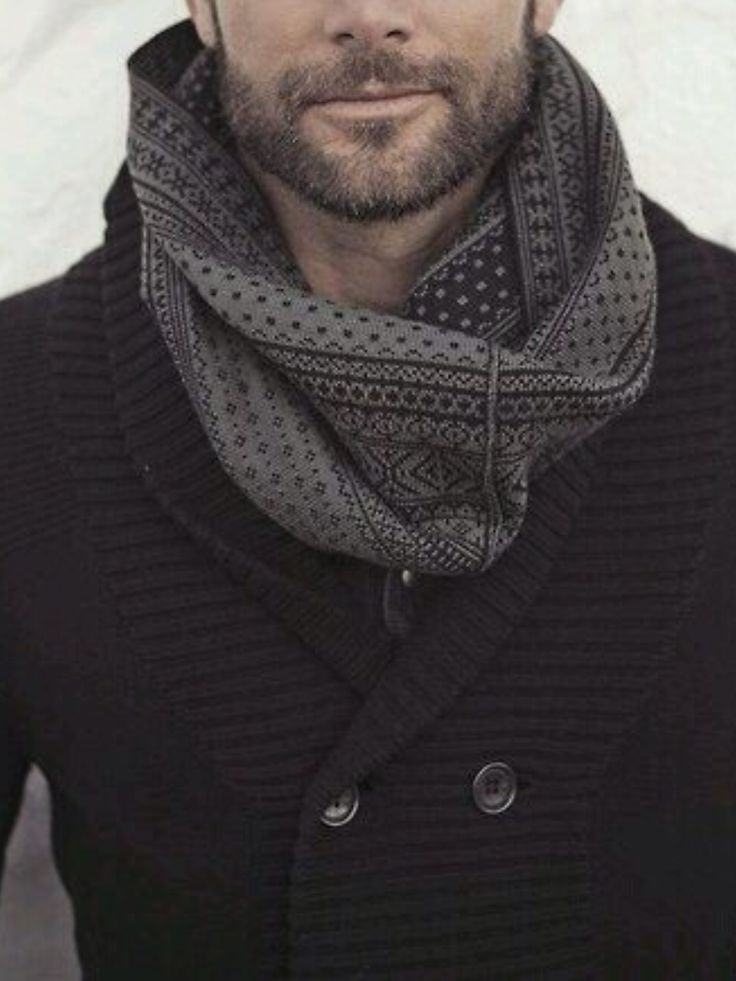 Men's fashion | Patterned Infinity Scarf